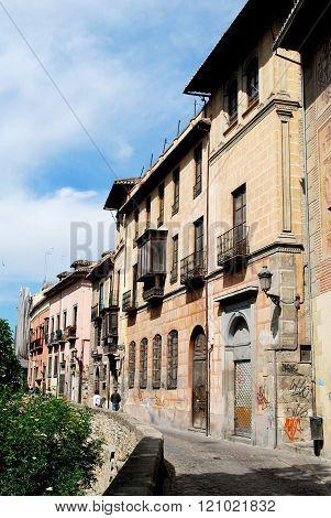 Carrera del Darro in the Albaicin, Granada.