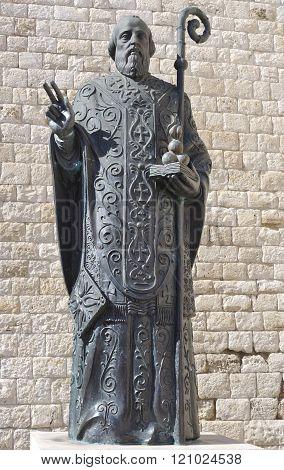 Statue of Saint Nicholas Bari Italy.
