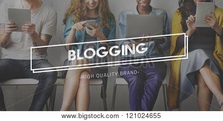 Blogging Post Connect Social Media Website Concept