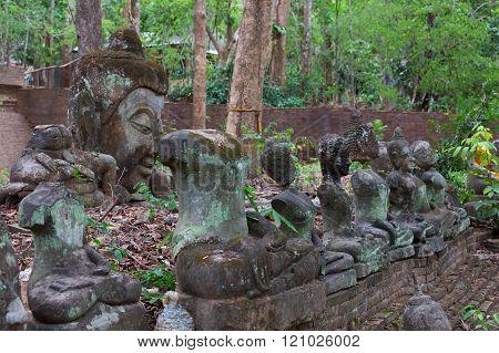 buddha statue in wat umong chiang mai travel thai temple