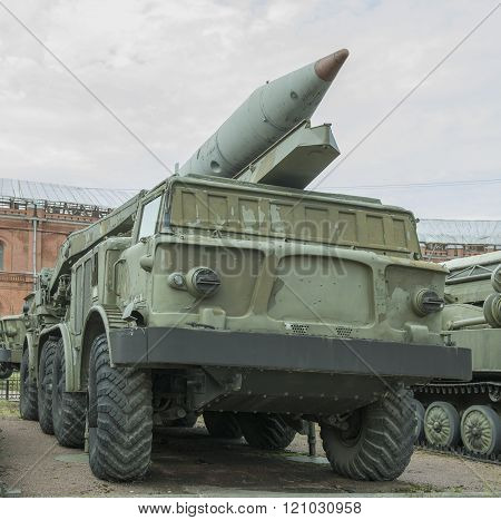9P113- Launcher With A Missile 9M21 Missile Complex 9K52