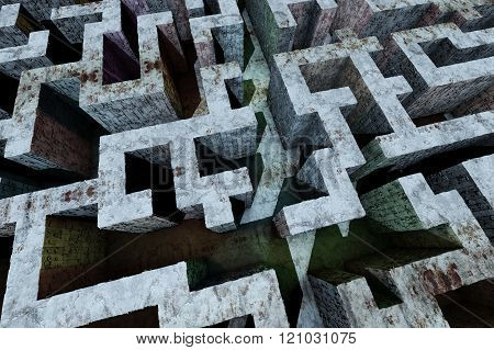 Mysterious Enigmatic Maze Labyrinth