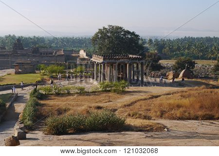 view from Hemakut's hill in Hampi