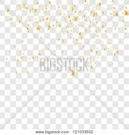 Many falling confetti