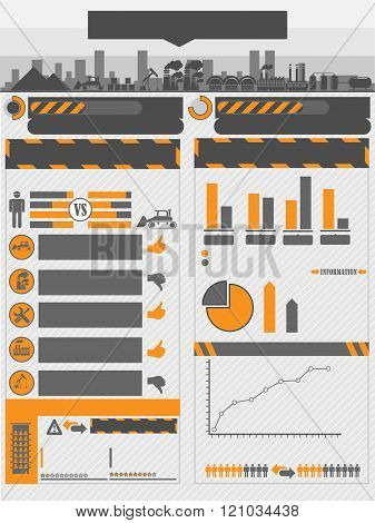 Infographic Work Orange