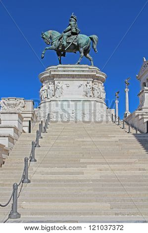 Stairway To The National Monument To Vittorio Emanuele Ii, Roma.