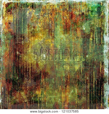 Old antique texture (for background). With different color patterns: yellow (beige); brown; green; red (orange); gray