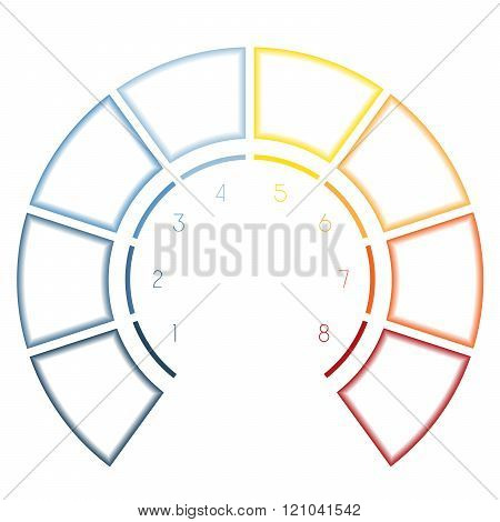 Infographics Semicircle For Eight Number Options
