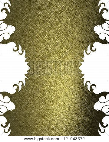 Golden abstraction plate. Element for design. Template for design. copy space for ad brochure or ann
