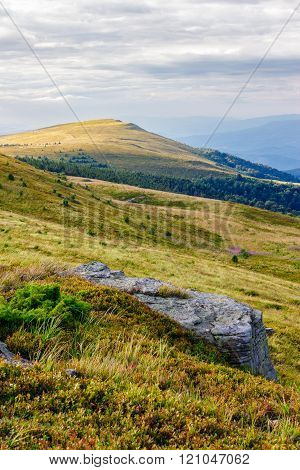 Mountain Landscape With Stone And Peak