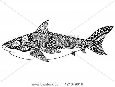 Shark Zentangle