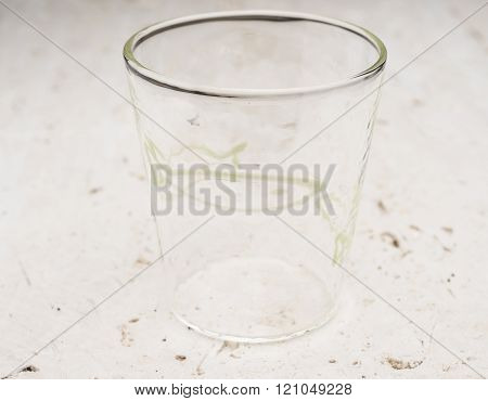 Crystal Drinking Glass With Green Fish Design