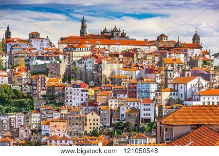 Porto, Portugal old town skyline.