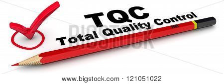 TQC. Total Quality Control. The Mark