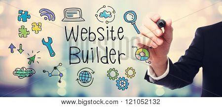 Businessman Drawing Website Builder Concept