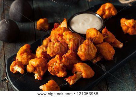Spicy Breaded Buffalo Chicken Cauliflower