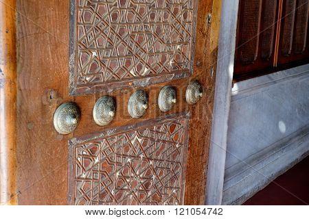 Interior Of The Sultanahmet In Istanbul. Doors