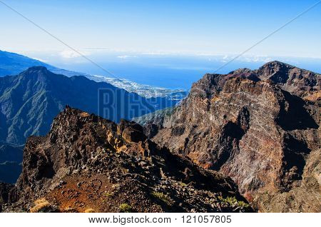 Amazing View On Rocky Mountains And Sea