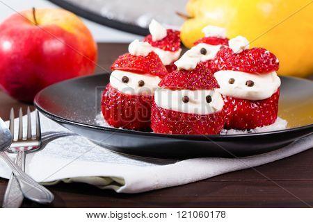 Festive New Year's Strawberry Dessert