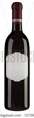 Wine Bottle isolated on White Background