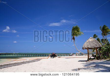Clear tropical beach and beautiful cloudscape, Punta Cana