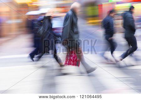 People On Crosswalk