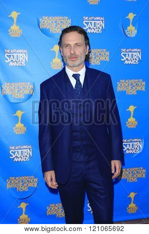 BURBANK - JUN 25: Andrew Lincoln at the 41st Annual Saturn Awards at The Castaway on June 25, 2015 in Burbank, California,