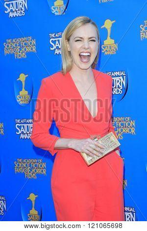 BURBANK - JUN 25: Amanda Schull at the 41st Annual Saturn Awards at The Castaway on June 25, 2015 in Burbank, California,