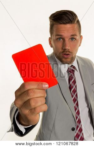 manager with red card