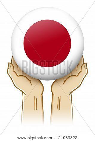 Pray For Japan Illustration