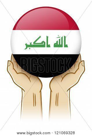 Pray For Iraq Illustration