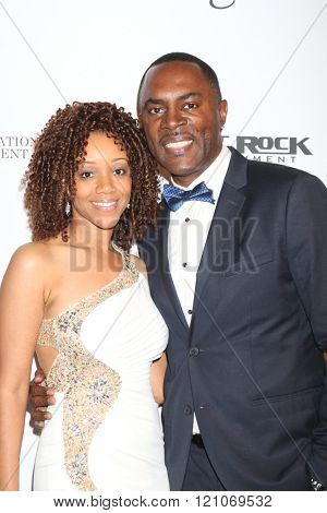 LOS ANGELES - FEB 28:  Chrystee Pharris, Richard Brooks at the Style Hollywood Viewing Party 2016 at the Hollywood Museum on February 28, 2016 in Los Angeles, CA