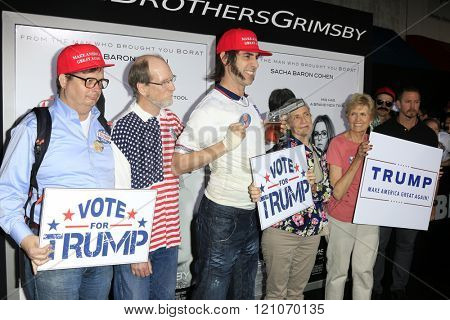LOS ANGELES - MAR 3:  Sasha Baron Cohen at the The Brothers Grimsby Premiere at the Regency Village Theater on March 3, 2016 in Westwood, CA