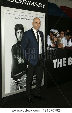 LOS ANGELES - MAR 3:  Mark Strong at the The Brothers Grimsby Premiere at the Regency Village Theater on March 3, 2016 in Westwood, CA