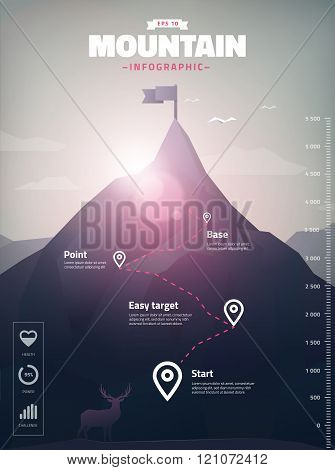 Mountain Peak Infographic