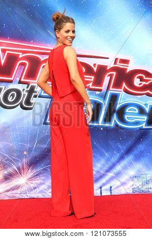 LOS ANGELES - MAR 3:  Stephanie Bauer at the America's Got Talent Judges Photocall at the Pasadena Civic Auditorium on March 3, 2016 in Pasadena, CA