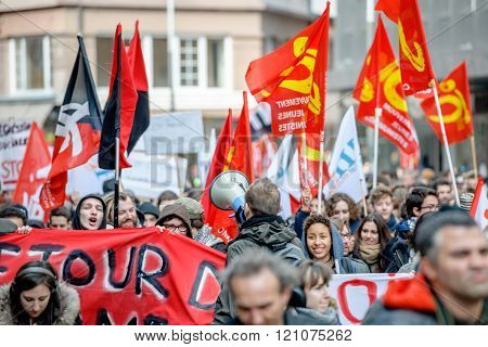 Protest Against Labour Reforms In France