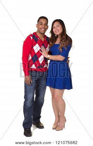 Mixed race couple
