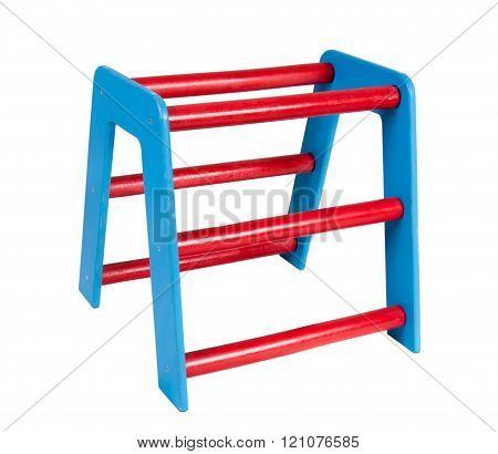 Children's ladder on a white backgr