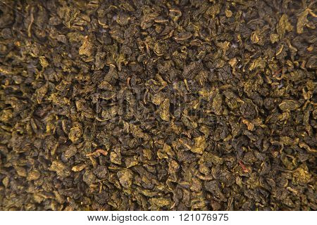 Texture of Tie Guan Yin Oolong tea, top view