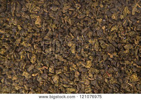 Texture of Tie Guan Yin Oolong tea, top view