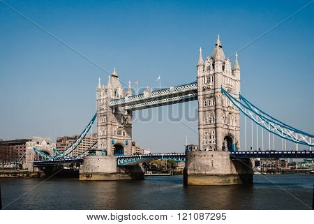Tower Bridge on the river Thames in London, England, UK