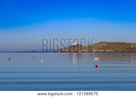 Aghios Nikolaos cape at Kea island, Cyclades Greece