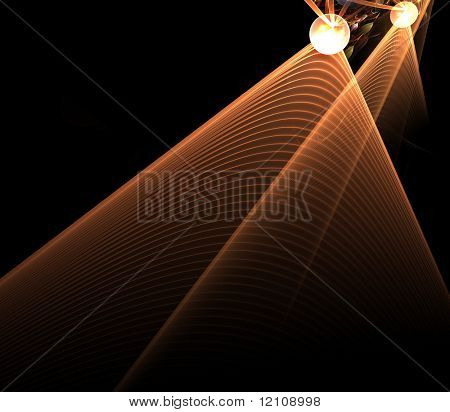 abstract fractal stage lights