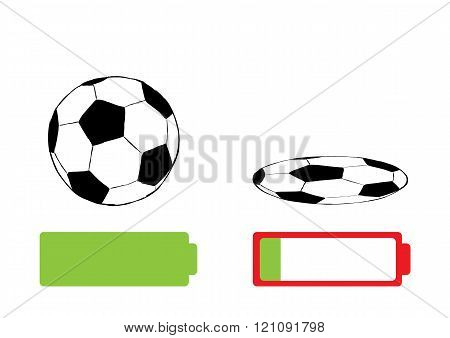 Soccerball and battery charge