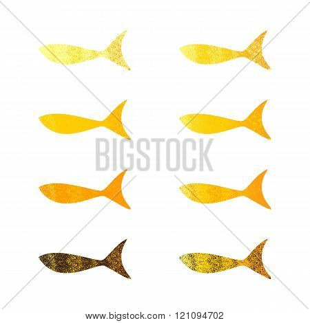Set Of Shabby Fishes