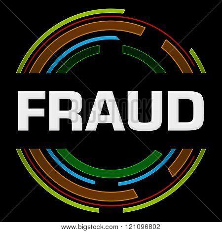 Fraud Technology Circle Black