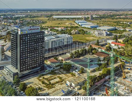 Business district in Bucharest, Romania