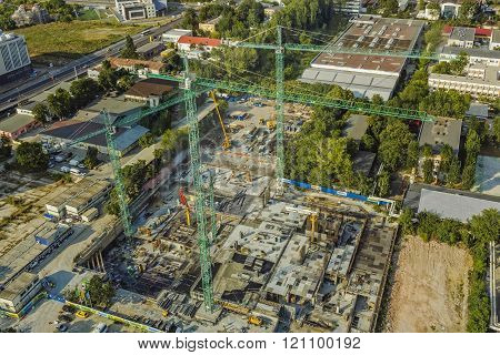 Construction Site In Bucharest, Romania