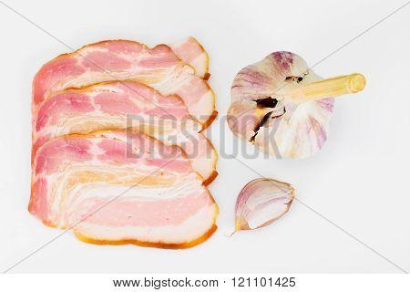 Smoked Bacon, Lard, Raw Pork with Spices